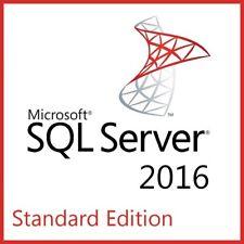 Microsoft SQL Server 2016 Standard Full 8 Core License, Unlimited User CAL, +ISO