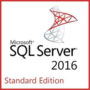 Microsoft SQL Server 2016 Standard Full 16 Core License, Unlimited User CAL, ISO