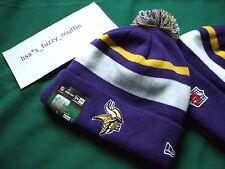 Minnesota Vikings New Era knit pom hat beanie 100%Authentic NFL On Field 2013-14