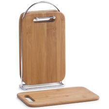 5tlg Set La tabla de cortar Muebles bambú corte bordo Chen soportes TABLILLA