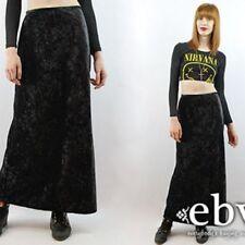 Black Velvet Plus Size Skirts for Women