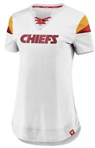 Fanatics Women's Kansas City Chiefs White Athena Football Jersey Large L NFL
