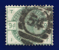 1883 SG195 9d Dull Green K25 IT Norwood Good Used Cat £480 cptm