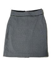 Banana Republic Black & White Herringbone Skirt Size 00 Petite