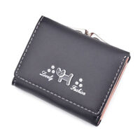 Fashion Cat Pattern Short Wallet Lady Coin Purse Card Holder Female Gifts