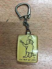très rare en jaune Porte-clés BOURBON C EST SHELL QUE J AIME