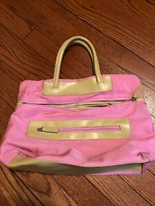 Pink & Tan Handbag Purse