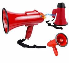 Powerful Portable Talk Megaphone with Siren Foldable Handle Adjustable Volume