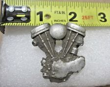 HARLEY DAVIDSON PANHEAD ENGINE VEST HAT PIN FROM 70S & 80S