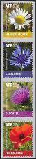 Luxembourg 2015 Poppy/Daisy/Cornflower/Thistle/Flowers/Nature 4v coil (lu10145)