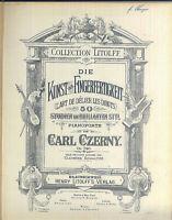 Carl Czerny , Die Kunst der Fingerfertigkeit ~  privat gebunden, alte Noten