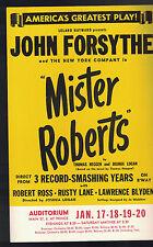 Mister Roberts John Forsythe Ad Bill Flyer 1950s Robert Ross Rusty Lane
