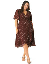 New with Tags FOREVER NEW Erin Flutter Wrap Curve Dress - size 18- RRP $159.99