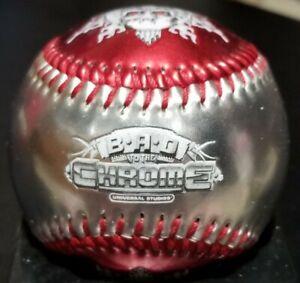 TERMINATOR T2-3D BAD TO THE CHROME UNIVERSAL STUDIOS ORLANDO BASEBALL BALL L@@K!
