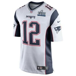 Tom Brady Authentic Vinyl Logo on Field Super Bowl LIII Mens Large New Jersey