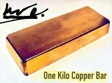 1 Kilo (2.2 lb) Element Copper Bar 36 oz .999 Fine Bullion Ingot 5-10-20