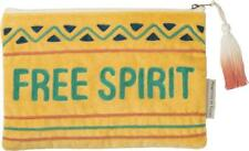 "FREE SPIRIT Velvet Zippered Pouch, 9.75"" x 6.50"", by Primitives by Kathy"