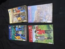 4 YA novels SADDLE CLUB series Bonnie Bryant ENGLISH HORSE, HORSEFLIES, RIDER +