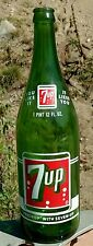Vintage 1965 7-Up Green Glass Soda Bottle, 1Pint 12 Fl Oz