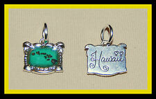 New, cute BRIGHTON silver MAP of THE HAWAIIAN ISLANDS charm  FREE SHIPPING !!