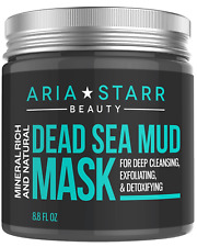 Aria Starr Dead Sea Mud Mask For Face Acne Oily Skin Blackheads Pore Minimizer