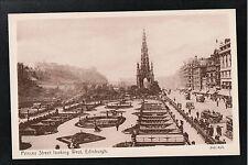 L@@K Princess Street Looking West Edinburgh 1900's Postcard ~ GOOD QUALITY CARD