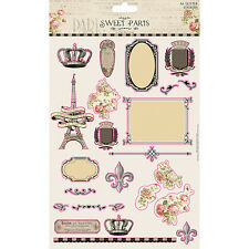 Dovecraft Sweet Paris A4 Glitter Stickers for cards and crafts