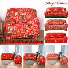 Christmas Elk Stretch Slipcover Sofa Cover Non-slip Elastic Cover 1/2/3/4 Seater