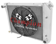 1968-1987 20 Inch Core GM 4 Row Champion Alum Radiator Fan Combo