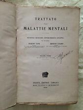 TRATTATO DELLE MALATTIE MENTALI - Tanzi & Lugaro - Libraria Editrice 1914