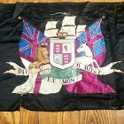 """""""Broderers"""" Silk Embroidered Tapestry  """"Diet Mon Droit """"Coat of Arms 19th c UK"""