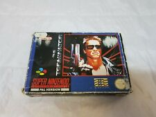 The Terminator Super Nintendo SNES PAL Complete CIB Pre-Owned Used No Work US!