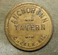 New ListingChetek, Wis., Anchor Inn Tavern / 10c In Trade. Brass, 26mm