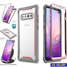 Clear Shockproof Hybrid Armor Bumper With Screen Protector For Samsung Galaxy 10