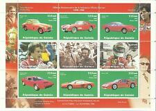 GUINEA 1998 FERRARI MINI SHEET MINT