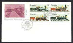 Canada  # 1036 - 1037 LLpb    Canadian Locomotives    Brand New 1984 Unaddressed