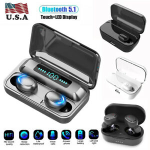 Bluetooth Earbuds for iPhone Samsung Android Wireless Earphone WaterProof USA