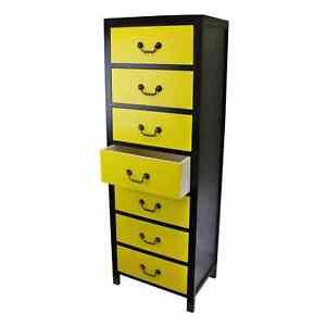 Chest of Drawers Tallboy Tall Storage Cabinet Slim Hallway Kitchen Bedroom Unit