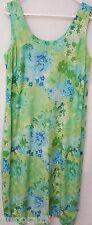Dressbarn Woman's Plus Green/Blue/Yellow/White Floral Sleeveless Dress Size 14W