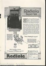 1924 RCA RADIOLA Super-VIII radio advertisement, Radio Corp of America
