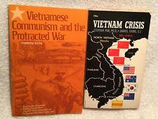 2 Vtg. Paperback Books Vietnam Crisis & Vietnamese Communism and Protracted War