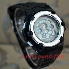 OHSEN Sport Digital Alarm Time School Watch For Child Boy Girl Black Wrist Watch