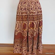 Women Ladies Floral Design Hippi Funky Tie Dyed Long Skirt Summer Beach Skirt