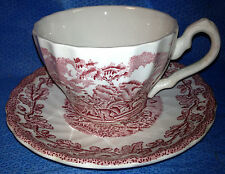 Fox Hunt Hunting Cup and Saucer Myotts Country Life Redware #2