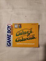 Arcade Classic 3 Galaga Galaxian - Authentic - Nintendo Game Boy - Manual Only!