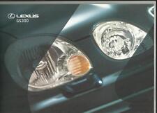 Lexus gs 300 (inc. se & sport) sales brochure octobre 1999 pour 2000 année modèle