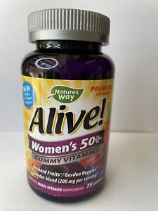 Women's 50 Plus, Nature's Way Alive Multi-Vitamin, 75 Gummies, Exp 10/22