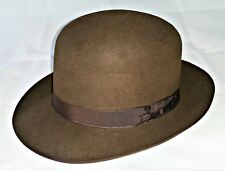 VINTAGE 40'S BORSALINO RIONFO ROYAL SUPPLIER ZLATEFF MEN'S FEDORA HAT:US7/EU56