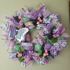 Spring Deco Mesh Butterfly Wreath