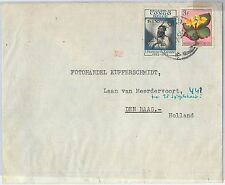 62422 - BELGIAN CONGO Belge - POSTAL HISTORY: COVER to HOLLAND 1953 - Flowers